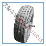 쌓아올리는 기계를 위한 알루미늄 변죽을%s 가진 10X3.50-4 압축 공기를 넣은 고무 바퀴