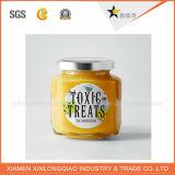 Autoadesivo trasparente personalizzato della bottiglia di vetro dei prodotti chimici, contrassegno di vetro dell'autoadesivo