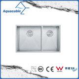 Gootsteen van de Keuken van het Roestvrij staal van de Verkoop van China de Hete Kunstmatige (ACS3119A2)