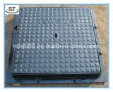 Ferro fundido en124 B125 Square 600x600mm Tampões