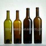 bottiglie di vino di vetro di figura del cono 750ml con la parte superiore di rivestimento del sughero