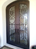 Двери входа ковки чугуна внешние декоративные двойные передние