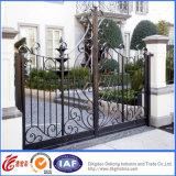 Ornamentales puertas de entrada de hierro forjado de seguridad