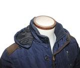 일치 Mens 두꺼운 고전적인 완두 외투 두건이 있는 옥외 재킷
