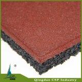 Fácil instalar as telhas quadradas de borracha das telhas de assoalho com um bom mercado