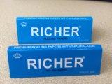 Coutume 1 1/4 papier 100% de roulement de chanvre de taille pour fumer avec la FDA pour nous
