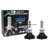 LED sans ventilateur Auto Light X3 H7 50W 6000lm Car LED Headlight Kits 6500k LED Head Lamp avec LED Ampoule