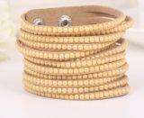 De Juwelen van de Manier van de Armband van de Steen van het Katoenflanel van Pu