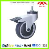 Placa giratória com rodízio de freio (P503-34E100X32CS2)