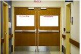 Porte coupe-feu en bois solide avec la nomenclature Trada normal, porte en bois solide, porte ignifuge