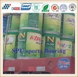Alimentação de fábrica Pavimentos desportivos Spu patenteada com Certificado Iaaf