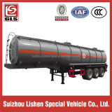 Corrosive Liquid를 위한 3 차축 33000L Stainless Steel Tank Semi Trailer