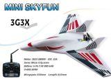 Mini aeroplano 3CH 2.4GHz 3G3X del getto RC di Skyfun con il rtf senza spazzola dell'affissione a cristalli liquidi Sky-G02 Tx (MNFJ3X-01)