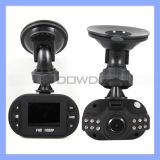 HD DVR Car Camera Recorder, Zwarte doos 1080p Car met 6 LEDs LCD Driving Recorder (C0-06)