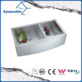 Aço inoxidável Man-Made Farmhouse pia de cozinha (ACS3322A2Q-46)