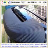 el vinilo de la fibra del carbón 3D con la burbuja de aire libera para el embalaje del coche