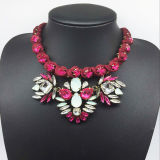 Wire Red Hand-Woven Shourouk Style Fashion Necklace (XJW13603)