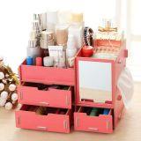 Творческая коробка хранения DIY многофункциональная деревянная Desktop, деревянная косметическая коробка