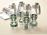 Frasco de vidro por atacado, recipiente de vidro portátil, empacotamento de vidro vazio de Starbuck