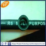 Tuyau hydraulique de tresse simple non métallique de la fibre R6