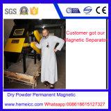 Separador permanente do cilindro magnético do pó seco para o vidro, cerâmica, alimento