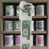 El tocador divertido limpia el tejido de cuarto de baño impreso 100czk de la novedad del papel higiénico