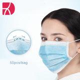 Venda por grosso descartáveis Non-Woven L 3 ply máscara facial de segurança de protecção