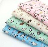 tela da impressão de 40%Cotton 60%Linen para o vestido do terno do desgaste das crianças