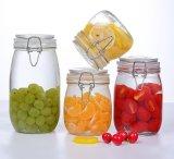 Articolo da cucina di vetro della cristalleria di immagazzinamento in il vaso della clip della guarnizione