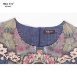 Оптовая продажа платья длины женщин Miss Вы Ailinna 801888 вскользь Linen средств с низкой ценой