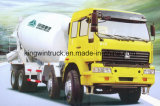 Type pilotant camion de la marque 8X4 de Sinotruk HOWO de mélangeur concret