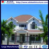 Villa prefabbricata chiara di lusso della struttura d'acciaio del fornitore della Cina