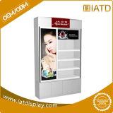 Furnierholz-Fußboden-Bildschirmanzeige-Regal mit LCD-Beleuchtung für Kosmetik-/Haut-Sorgfalt/Feuchtigkeitscremes/Augen-Schablone/Gesichtsbehandlung scheuern sich/Lippensorgfalt