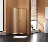 Douche en aluminium d'or Sabin de secteur de profil pour la salle de bains