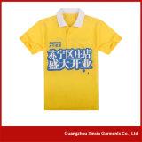 Camiseta de polo impreso de la transferencia de calor de encargo del collar (P39)