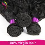 自然な波の毛のWeftバージンのRemyのブラジルに人間の毛髪の編むこと