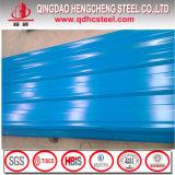 SGCC prepintó la hoja de acero acanalada galvanizada de la azotea