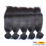 El cabello lacio pelo brasileño Remy, secador de pelo tejer la trama
