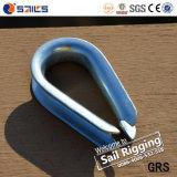 Cosse en acier de câble métallique de Galvanied DIN6899A de calage de matériel