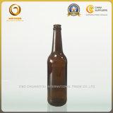 2017新しいキャップ500mlこはく色ビールガラスビン(454)