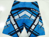 Vêtements de bain rayés de circuit de panneau d'hommes de polyester plat de taille d'Oeko-Tex