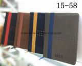 Cuaderno de cuero del diario de la PU de la insignia de encargo popular 2017 de fabricantes