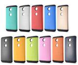 Google Nexus 6을%s Armor Plastic Soft TPU 이론 Cover를 보호하십시오