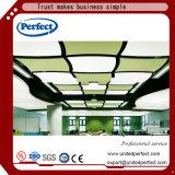 Panneau incurvé acoustique de plafond suspendu de fibre de verre de cloison de Colcorful