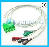 Cable de Draeger Ms16231/Ms16547 ECG con los Leadwires