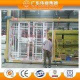 Aluminio del vidrio Tempered de la doble vidriera/aluminio/puertas deslizantes teledirigidas eléctricas y Windows de Aluminio
