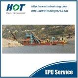 Dragueur élevé d'extraction de l'or de chapelet hydraulique de reprise, drague de sable