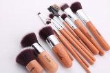 Verpakking van de Zak van de Hennep van het Handvat 12PCS van de Borstel van de Vezel van de Borstel van de make-up de Kunstmatige Natuurlijke Houten
