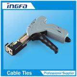 Pulvérisés en PVC noir à verrouillage automatique en acier inoxydable attache de câble pour la construction