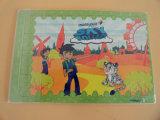 Enigma dobro de papel de DIY para crianças
